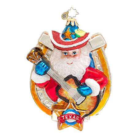 Lonestar Melody Texas Santa  (retired) Radko Ornament