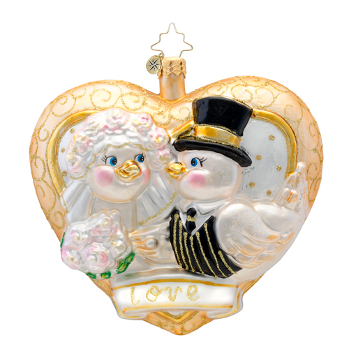 Love Is In The Air Dated 2014  (retired) Radko Ornament