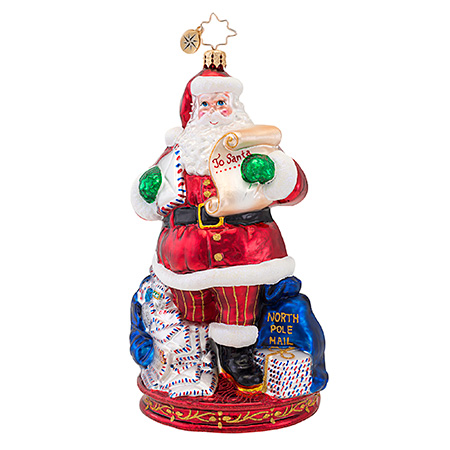 Mail Call Santa  (retired) Radko Ornament