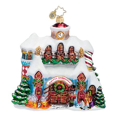 Making Christmas Magic Santa's Workshop Radko Ornament