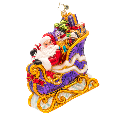 Many Miles To Go Ornament Radko Ornament
