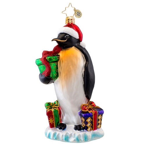 March Of The Gifts Penguin  (retired) Radko Ornament