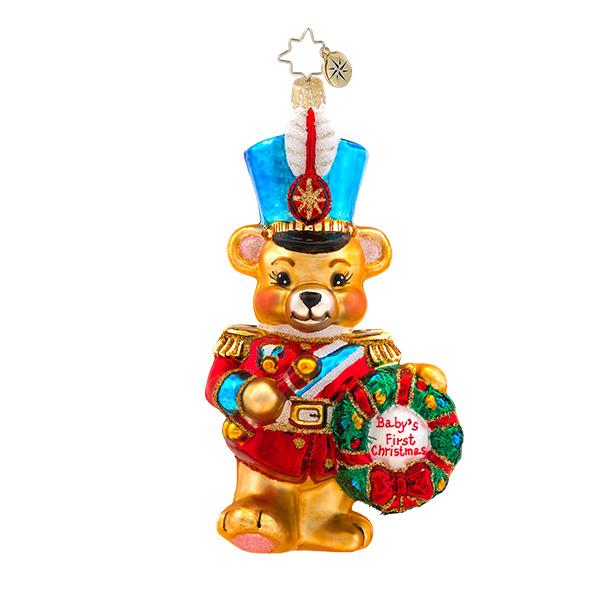 Marching Baby Bear Radko Ornament