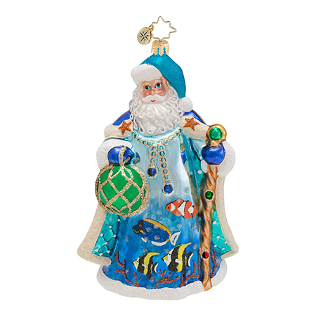 Maritime Merriness Santa  (retired) Radko Ornament