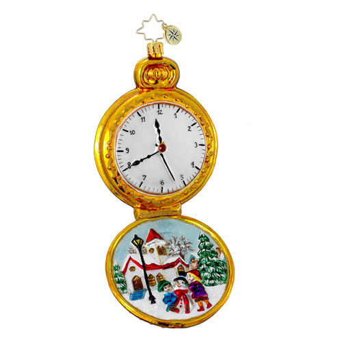 Moment In Time Pocket Watch  (retired) Radko Ornament