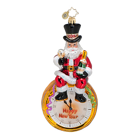 Moments To Midnight New Year's 2014 Dated  (retired) Radko Ornament