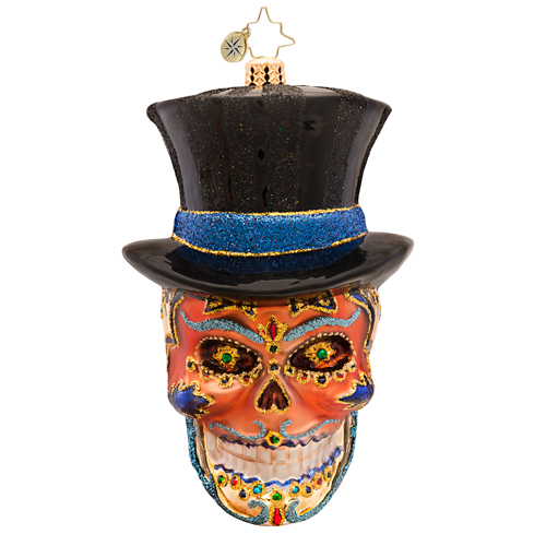 Mr Dead Skull Ornament Radko Ornament