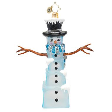 Mr. Frosty Cubes Snowman Radko Ornament