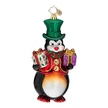 Mr. Penguin's Presents  (retired) Radko Ornament