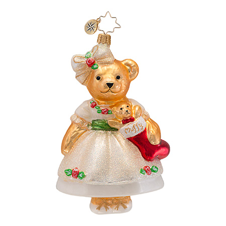 Muffy Christmas Rose Vanderbear  (retired) Radko Ornament