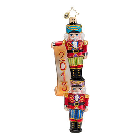New Year Nutcrackers 2013 Dated  (retired) Radko Ornament