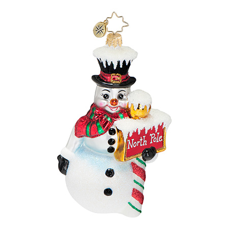 Nice Up North Snowman  (retired) Radko Ornament