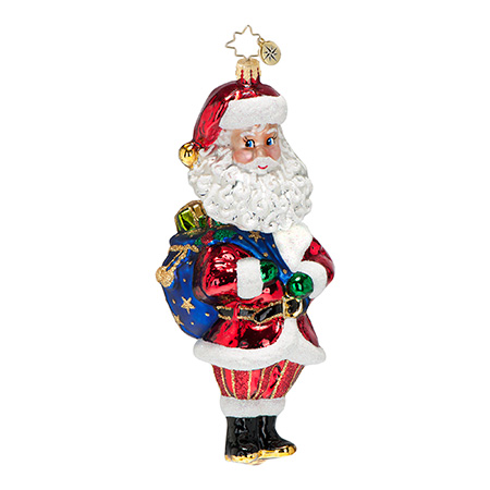 Nodding Nick Santa Bobblehead Ornament (retired) Radko Ornament