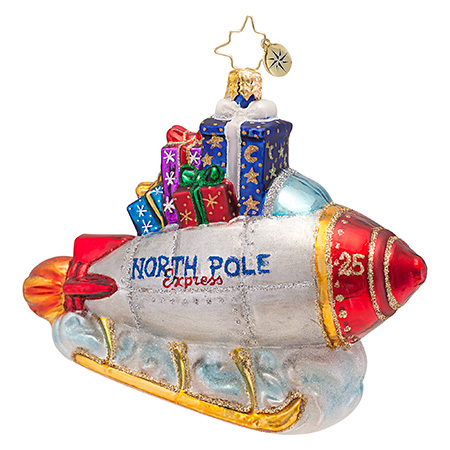 North Pole Express Sleigh  (retired) Radko Ornament