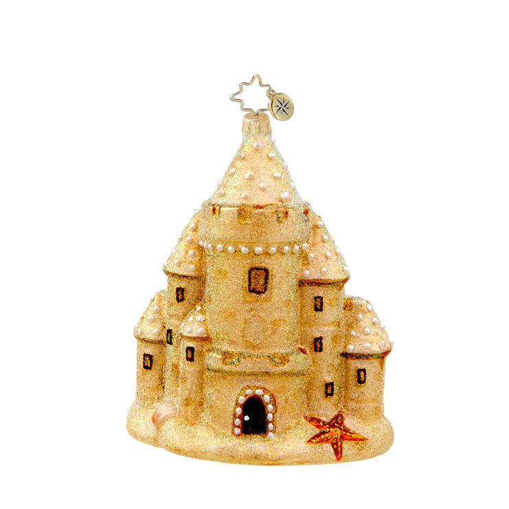 Ocean View Sandcastle  (retired) Radko Ornament