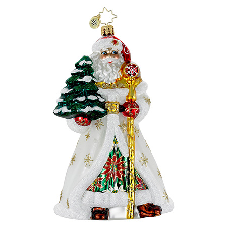 Old Tyme Tidings Santa  (retired) Radko Ornament