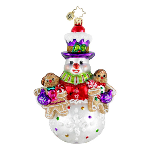 One Sweet Trio Snowman  (retired) Radko Ornament