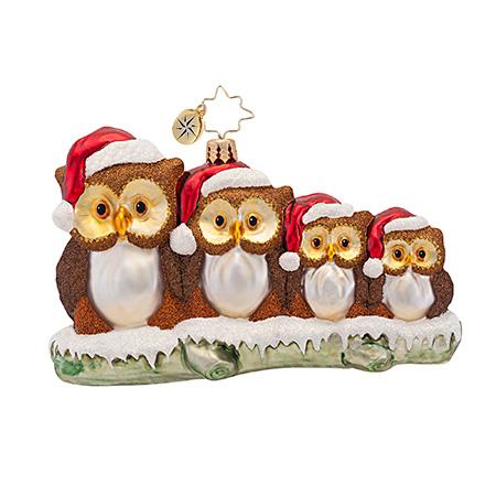 Owl In The Family Animal Radko Ornament