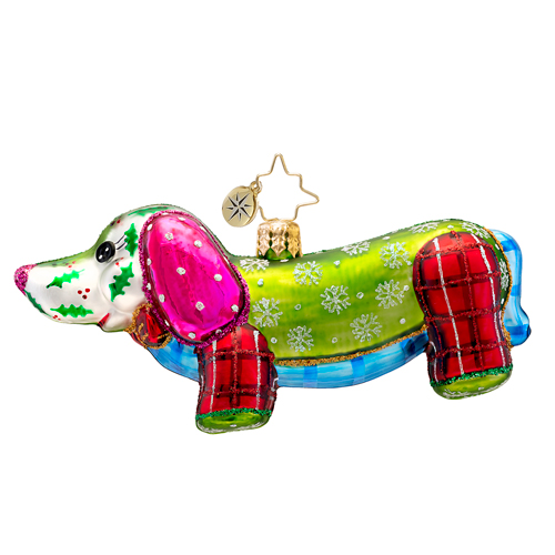 Patchwork Winnie  (retired) Radko Ornament