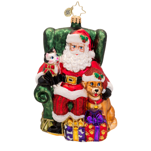 Paws And Claus Radko Ornament