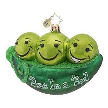 Peas In A Pod  (retired) Radko Ornament