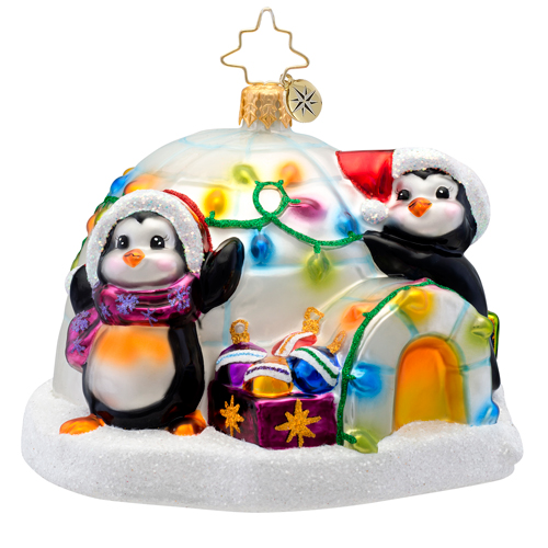 Penguin Prep Radko Ornament