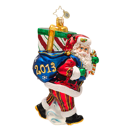 Perfect Timing Nick 2013 Dated Santa  (retired) Radko Ornament