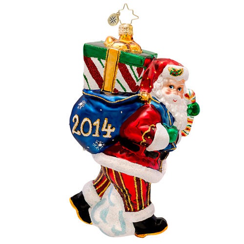 Perfect Timing Nick 2014 Dated Santa  (retired) Radko Ornament