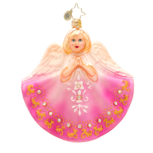 Petite Prayers Angel Ornament - Blonde Hair (retired) Radko Ornament