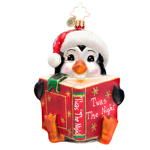 Picturebook Penny Penguin  (retired) Radko Ornament