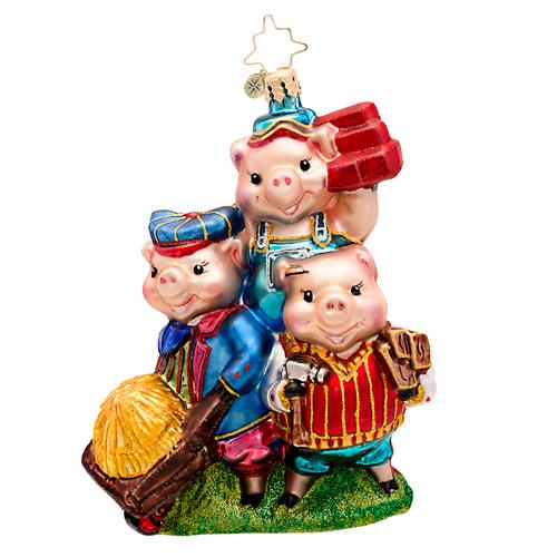 Piggly Constructors Pig Radko Ornament