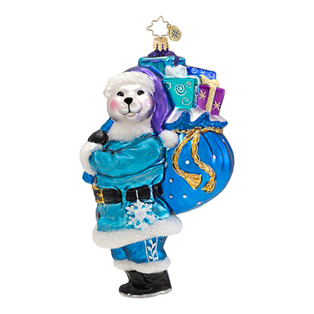 Polar Bearing Gifts Bear  (retired) Radko Ornament