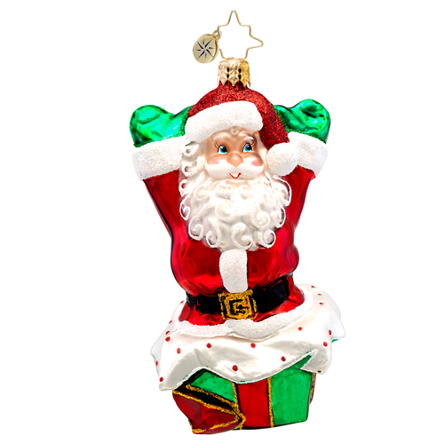 Pop Up Noel Santa  (retired) Radko Ornament