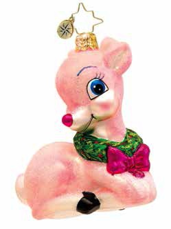 Precious Pink Baby Deer Pink  (retired) Radko Ornament