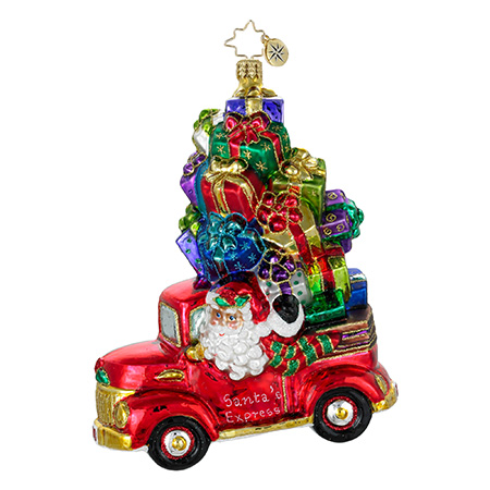 Presents For Pickup Santa Truck  (retired) Radko Ornament