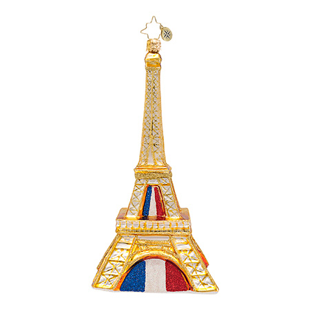 Pride Of Paris Eiffel Tower  (retired) Radko Ornament