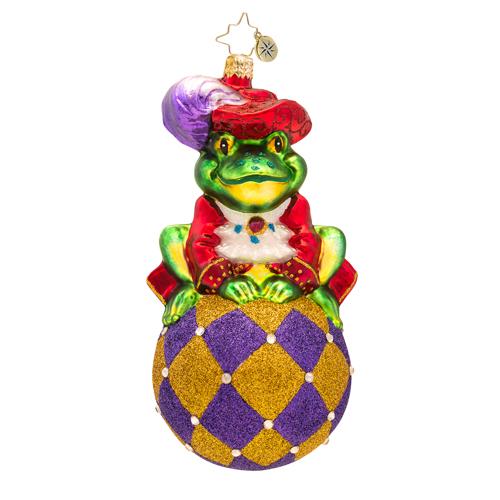 Prince Ribbit Frog Radko Ornament