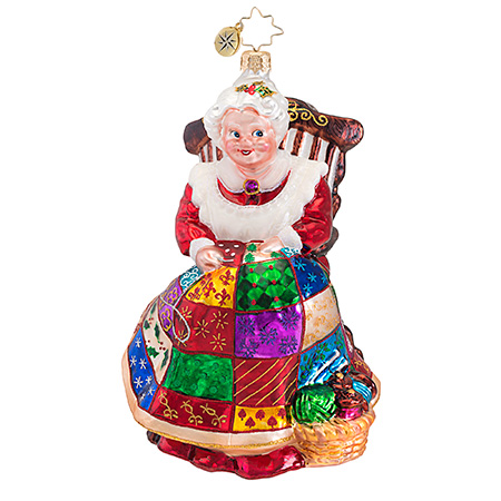 Quiltin' Mrs. Claus  (retired) Radko Ornament