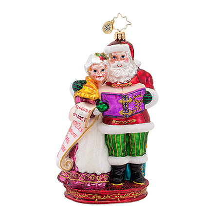 Quite A Team Santa & Mrs. Claus  (retired) Radko Ornament
