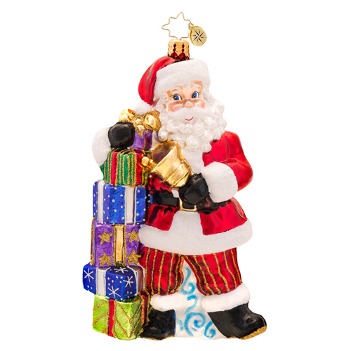 Ring A Ding, Ding Santa  (retired) Radko Ornament
