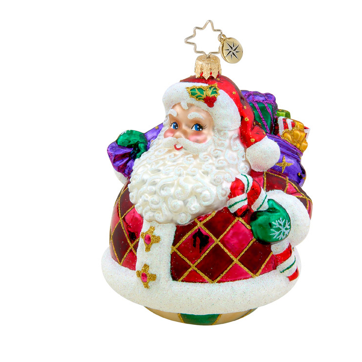 Rollin' Ruby Claus  (retired) Radko Ornament