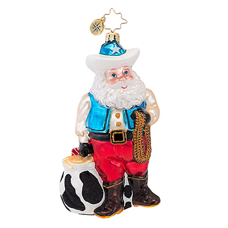 Rootin' Tootin' Nick Santa  (retired) Radko Ornament