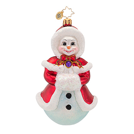 Rosy Rose Snowman  (retired) Radko Ornament