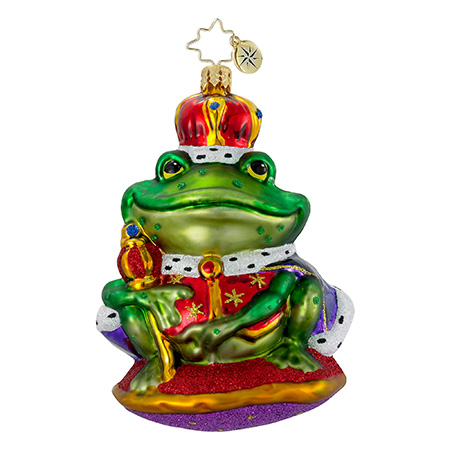 Royal Ribbit Frog  (retired) Radko Ornament