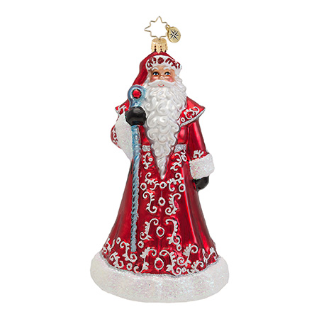 Ruby Red Robes Santa  (retired) Radko Ornament