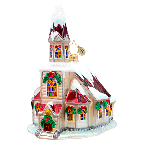 Ruby Roof Chapel Radko Ornament