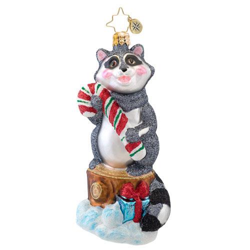 Rudy Raccoon Animal Radko Ornament