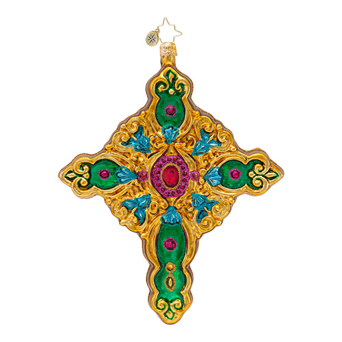 Sacred Radiance Cross  (retired) Radko Ornament