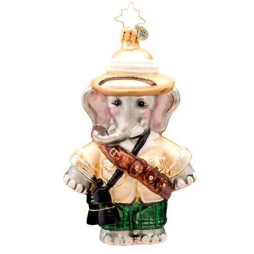 Safari Sam Elphant  (retired) Radko Ornament