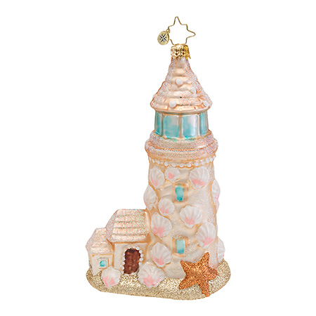 Sandy Lookout Snowman Beach Radko Ornament
